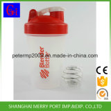 Copos plásticos baratos que medem o copo feito sob encomenda do abanador da proteína com a esfera de aço de Stainess