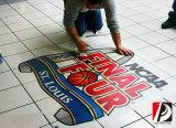 Facendo pubblicità all'autoadesivo adesivo della decalcomania del pavimento delle decalcomanie del pavimento del PVC (FLD-01)