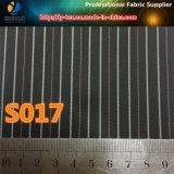 Tela de matéria têxtil tecida forro tingida fio da luva do poliéster da listra (S17.37)