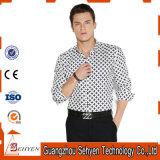 Modèle de chemises de robe formelle de la Chine pour les hommes du coton 100%