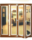 Portão de alumínio exterior baixo E porta dobrável Porta bi-dobrável