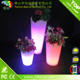 Plástico de la flor LED de luz de hasta Ollas Ollas iluminación Pot