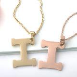 方法宝石類の女性のステンレス鋼の二重リングHの恋人のネックレス