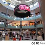 Visualización de LED flexible de interior a todo color de SMD P7.62 para hacer publicidad de la señalización