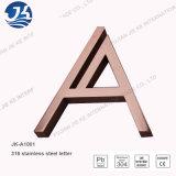 Знак логоса металла письма номера канала нержавеющей стали