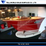 Modern Design Mini LED Half Circle Arc Boat Shape Pequeno Bar Bar Counter