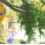 100%Polyester 황금 사자 Pigment&Disperse는 침구 세트를 위한 직물을 인쇄했다