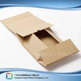 La ropa plegable del embalaje del envío plano del papel de Kraft arropa el rectángulo (xc-APC-001)