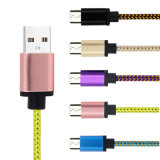 3.3FT nylon Gevlechte 5V 2A USB 2.0 Sync en het Laden Kabel