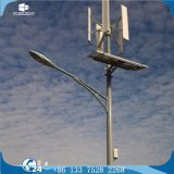 Solar-LED Straßenbeleuchtung des vertikalen Mittellinien-Turbine-Rasterfeld-hybriden Wind-