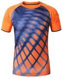 T-shirt estampé par sublimation en bonne santé de dri de compactage d'hommes