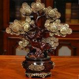 Statua fortunata dell'albero della decorazione della Cina di ricchezza ricca di Pachira Macrocarpa