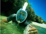 Snorkelingear snorkelt Masker voor Volwassenen en Kinderen wordt geplaatst - het Volledige Snorkelende Toestel van Easybreath van het Gezicht met 180&deg die; Overzeese Mening