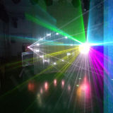 6W DMX DJ encenam o laser do RGB da cor cheia do disco