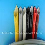 Umsponnene elektrische Draht-Isolierung Sleevings des Hochspannungs- und wärmebehandelten silikonumhüllten Fiberglas-7.0kv