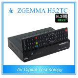 De nieuwe Aardse Satelliet + de Tweeling/Van de Doos Zgemma de Doos van kabeltelevisie Combo DVB S2 + DVB T2/C + DVB T2/C Zgemma H5.2tc