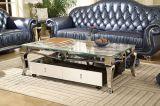 Insieme di lusso del tavolino da salotto del quadrato della parte superiore del marmo dell'acciaio inossidabile 2017