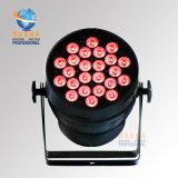 Lumière UV de PARITÉ de l'hexa 24*18W 6in1 Rgbaw DMX DEL de haute énergie avec Powercon pour le club d'événement de club du DJ d'étape