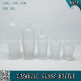 Bottiglia di vetro cosmetica glassata dello spruzzo con i coperchi dell'oro della Rosa