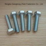 Гальванизированные DIN933 болты с шестигранной головкой ранга 6.8 польностью продетые нитку тяжелые