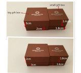 Caixa de jóia de papel luxuosa feita sob encomenda ajustada/caixa do bracelete/caixa da colar