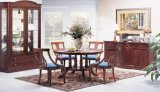 Muebles de madera de madera del vector de cena del vector