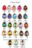 China Wholesale Crystal Christmas Ornament Golden Claw Clear Glass Fechar Costura Crystal Rhinestone (SW-Drop 10 * 14)