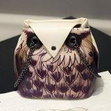 Sy7885를 인쇄해 올빼미를 가진 숙녀 어깨에 매는 가방 메신저 부랑자 부대 핸드백