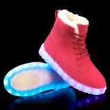 4 ألوان بالغ [لس-وب] قطن بطانة ثلج جزمة مع [لد] ضوء في وحيد [لد] إنارة أحذية