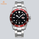 Het Horloge van het Embleem van de Douane van het Ontwerp van de luxe, Mic het Goedkope Horloge van de Prijs met Dubbele Calendar72818
