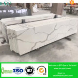 Calacattaの白い設計された石造りの水晶平板