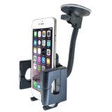 360 support de téléphone de véhicule du stand 0206 de support de pare-brise d'aspiration de rotation