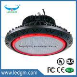 2017 nós excitador elevado do poço do meio dos dispositivos elétricos IP65 do diodo emissor de luz do louro do cUL elevado popular do UL da luz do louro do diodo emissor de luz do UFO de Snc 100W150W200W 5 anos de CRI elevado da garantia