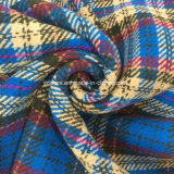 Двойная шинель ткани шерстей проверки стороны