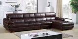 Sofá moderno do couro da sala de visitas de Brown da mobília do projeto do hotel (UL-NS128)