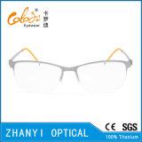 Рамка облегченных Semi-Rimless Titanium стекел Eyeglass Eyewear оптически (8114)