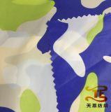 아이들 의복 직물 아래로 인쇄하는 위장 재킷을%s 새로운 인쇄된 나일론 호박단 직물을