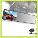 Carro DVR do espelho de Rearview da caixa negra do carro com câmeras duplas