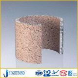 Unterstütztes gebogenes Steinaluminiumbienenwabe-Panel für Baumaterialien