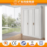 Home Furniture Modern Aluminium Bedroom Wardrobe Cabinet with Wood Grain