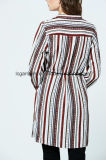 Beiläufiger Chiffon- spätester V-Stutzen formale Fußleisten-Blusen-Muster für Damen