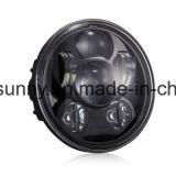 """Linterna negra de Daymaker Harley de la proyección del redondo LED de la alta calidad 5.75 """" para las motocicletas"""
