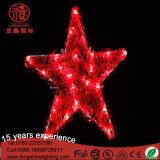LED Ce RoHS Aprovado Natal Luz Estrela Vermelha para Casamento Decoração De Natal