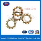 Rondelle à ressort de dents de l'usine DIN6797A de la Chine de rondelle de freinage de rondelle en acier plate externe de rondelle