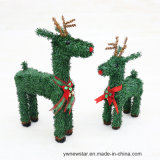 Ciervos verdes de la Navidad del PVC para la decoración del día de fiesta