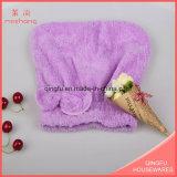 Korallenrotes Vlies-Farben-Tuch Haar-Trockner Tuch für Bad