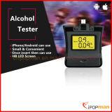 Breathalyzer électronique d'appareil de contrôle d'alcool de souffle d'affichage à cristaux liquides d'appareil de contrôle d'alcool de souffle