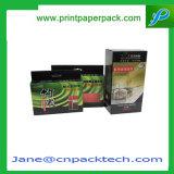 Rectángulo de empaquetado activado carbón de leña de bambú cosmético de encargo del carbón del perfume de la cartulina