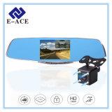4.3 espelho cheio do carro DVR do gravador de vídeo da polegada HD 1920*1080 Digitas com duas câmeras
