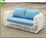 Sofa élégant d'osier de jardin de rotin de meubles extérieurs modernes de type